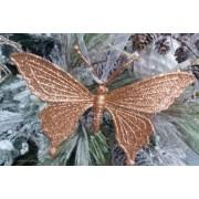 Бабочка 8*9 см золото