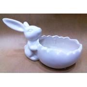 Фигурка зайца 13*9 см керамика