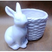 Фигурка зайца 13 см керамика