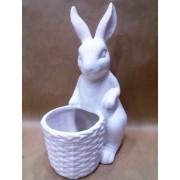 Фигурка зайца 32 см керамика