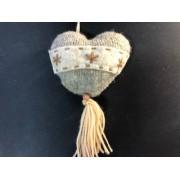 Сердце вязанное 7х10 кисточка