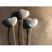 Сердце - пик 4 см бежевое