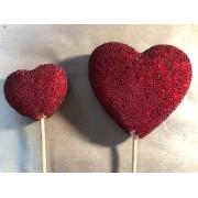 Сердце - пик 9 см красное