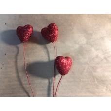 Сердце - пик 4 см красное