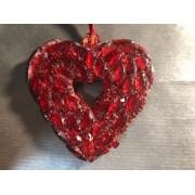 Сердце в стразах 9 см ко Дню Валентина