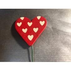 Сердце - пик 5 см красное
