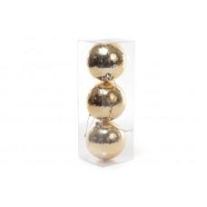 Набор елочных шаров (3шт) 8см, золото