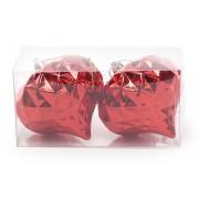 Набор елочных украшений (2шт) Фонарик 8см, красный