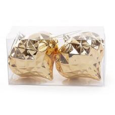Набор елочных украшений (2шт) Фонарик 8см, золото