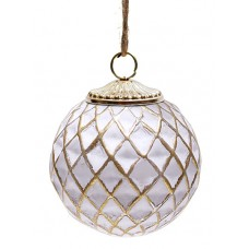 Елочный шар 8см, патинированное золото