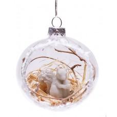Елочный шар с белочкой, 7,4см