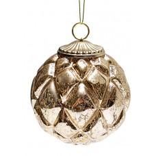 Елочный шар Античное золото, 8см