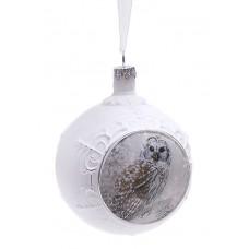 Елочный шар с рисунком Сова, 8см