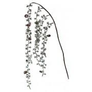Декоративная ветка из хвои с шишками, 60см