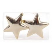 Елочные украшения звезды, золото 11,5см
