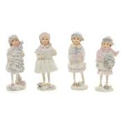 Декоративная статуэтка Девочка с подарками, 4 вида
