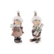 Декоративная статуэтка Детки с подарками, 2 вида