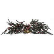 Новогодний декор ветка с ягодами 70см
