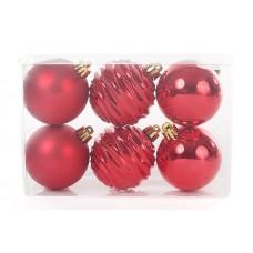 Набор шаров красный, 6шт