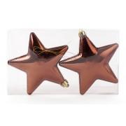 Елочные украшения Звезды, коричневый, 2шт
